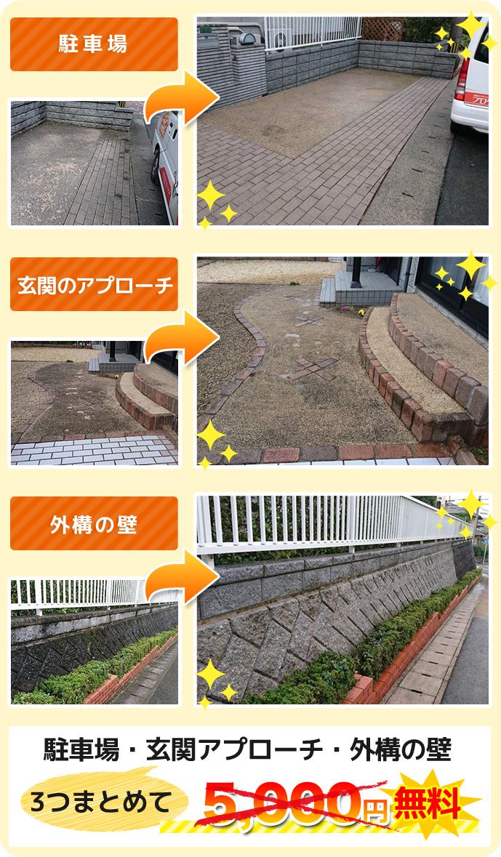 駐車場・玄関のアプローチ・外構の塀 今なら無料
