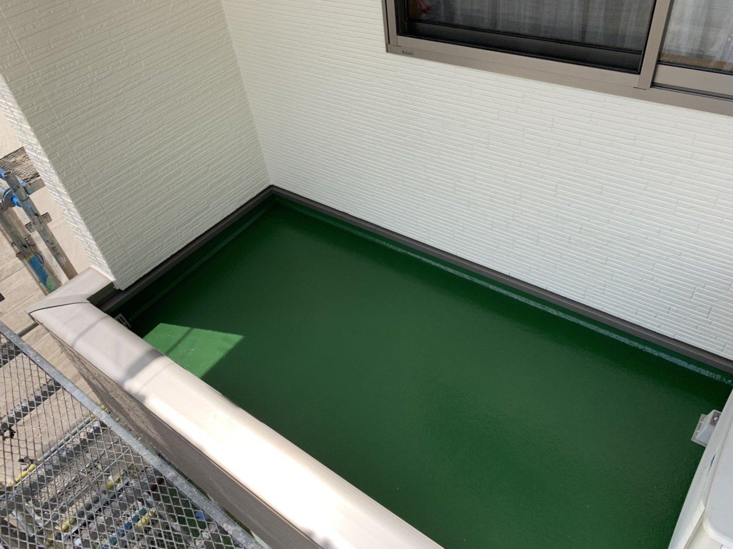 福岡県古賀市I様邸施工7日目付帯塗装修正清掃完了検査作業