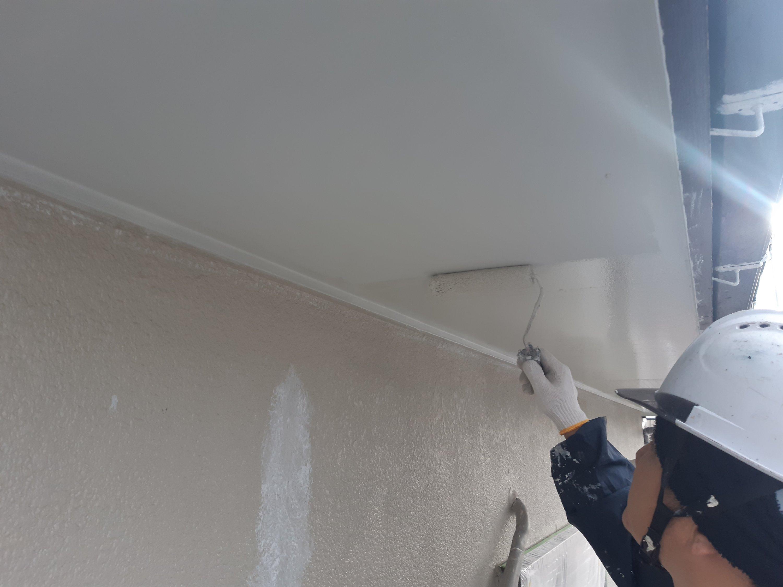宗像市泉ヶ丘 M様邸施工4日目外壁下塗り作業