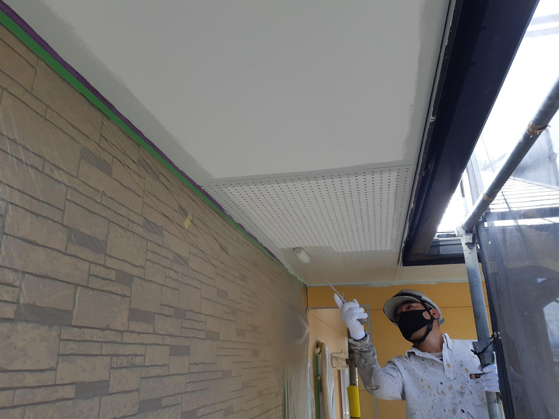那珂川市片縄西 M様邸屋根・外壁塗装施工4日目